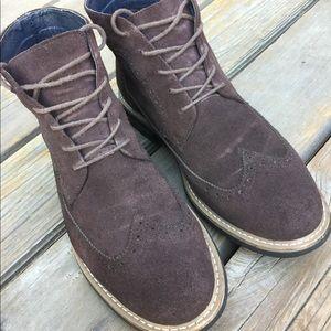 Men's JOSEPH ABBOUD LEWIS Suede Wingtip Boots